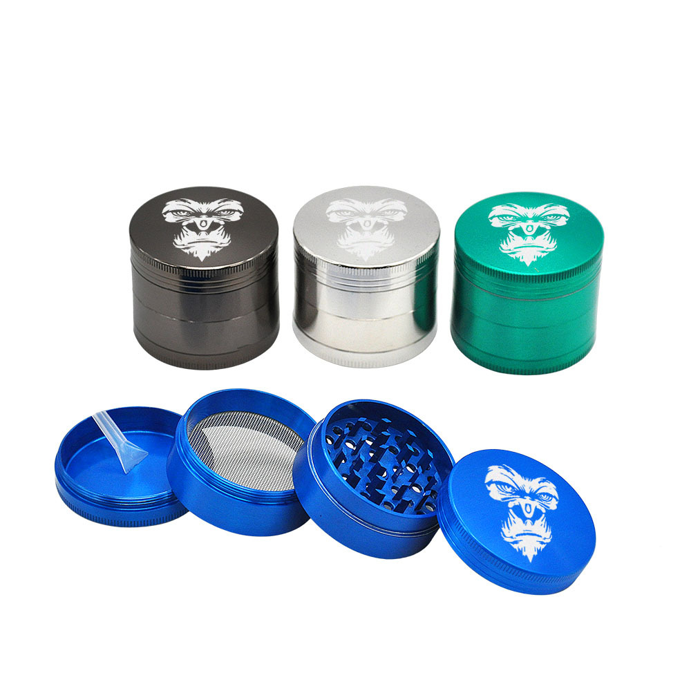 KING KONG Herb Grinder 4 Layers 50 MM Zinc Alloy With Sharp Diamond Teeth Tobacco Metal Herb Crusher Spice Mill Muller 8