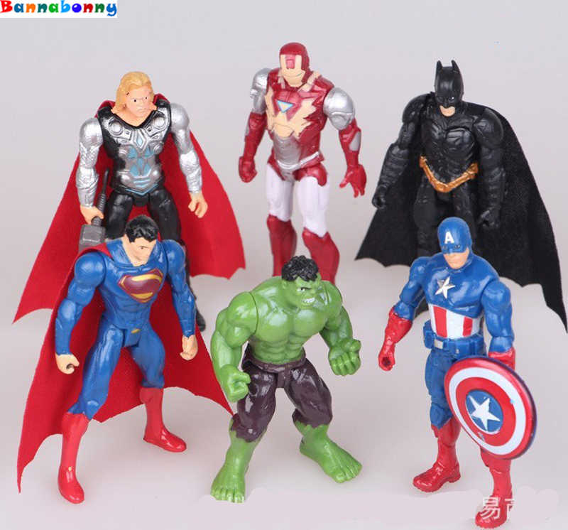 1pcs superhero Avengers Iron Man Hulk  Action Figures gift collection of children's toys