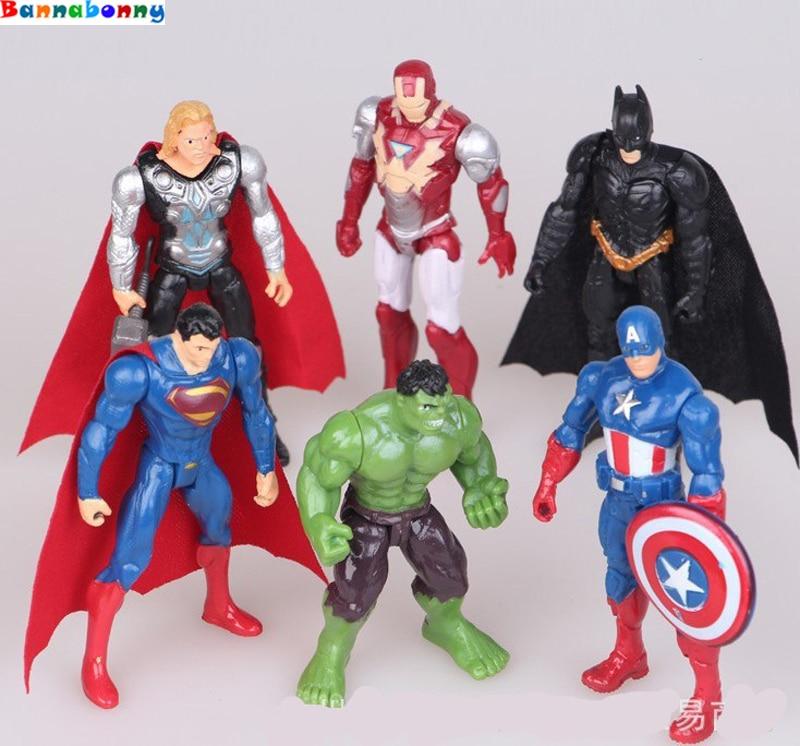 1pcs Superhero Avengers Iron Man Hulk  Action Figures Gift Collection Of Children's Toys