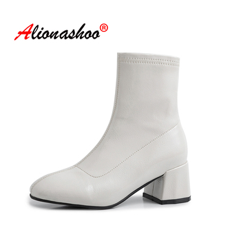 Genuine leather round toe Zipper ruffles ankle boots brand women black white color model Hollywood star ankle boots size 34-40