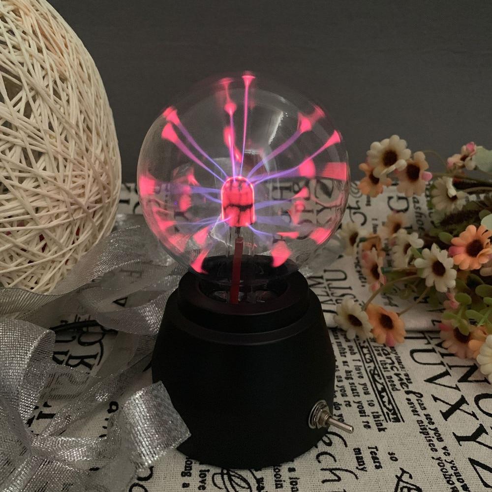 3D Crystal Globe Glass Magic Plasma Ball Moon Lamp USB Sphere  Light Dragon Ball Lamp Home Décor Gift