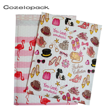 10PCS Printed Plastic Bubble Mailer Flamingo Design Fashion Trend Padded Envelopes Mailing bag self seal envelope Shipping
