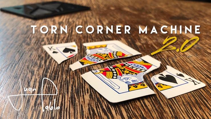 Torn Corner Machine 2.0 (TCM) By Juan Pablo Gimmick Card Magic Close Up Magic Tricks Street Magic Illusion Comedy Magician Props