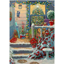 5D DIY Diamond Embroidery Christmas Landscape Painting Cross Stitch Full Gift Valentines Day