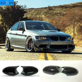 Dla BMW 1 3 seria E81 E82 E87 E88 E90 E91 E92 E93 boczne skrzydło czarny błyszczący lustrzane osłony czapka lusterko wsteczne Shell akcesoria samochodowe tanie i dobre opinie CN (pochodzenie) Lustro i pokrowce