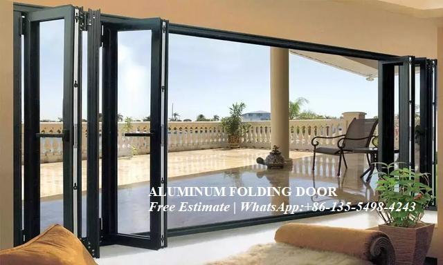 Australian Standards Double Glazing Lowes Bi Fold Door/Accordion Aluminum Glass Patio Exterior Bifold Doors /bi-fold