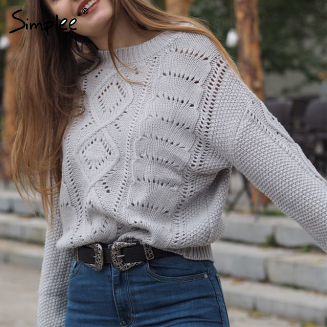 Knitted O-neck Lantern sleeve sweater 4