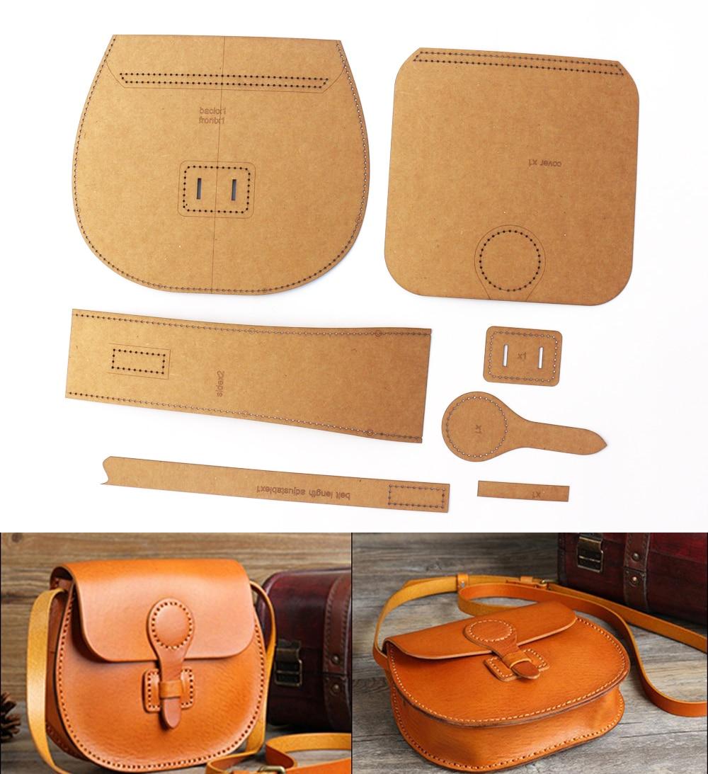 Diy кожа крафт-бумаги сумки из натуральной кожи швейная узор
