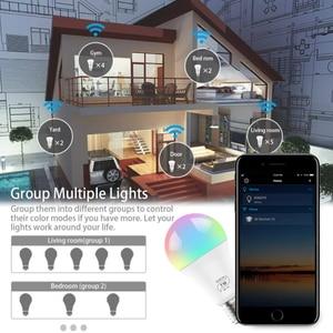 Image 4 - Magic ampoule Led intelligente, 7W E27, wi fi RGB, lampe domotique intelligente sans fil, 85 265V, Compatible avec ALexa et Google Home