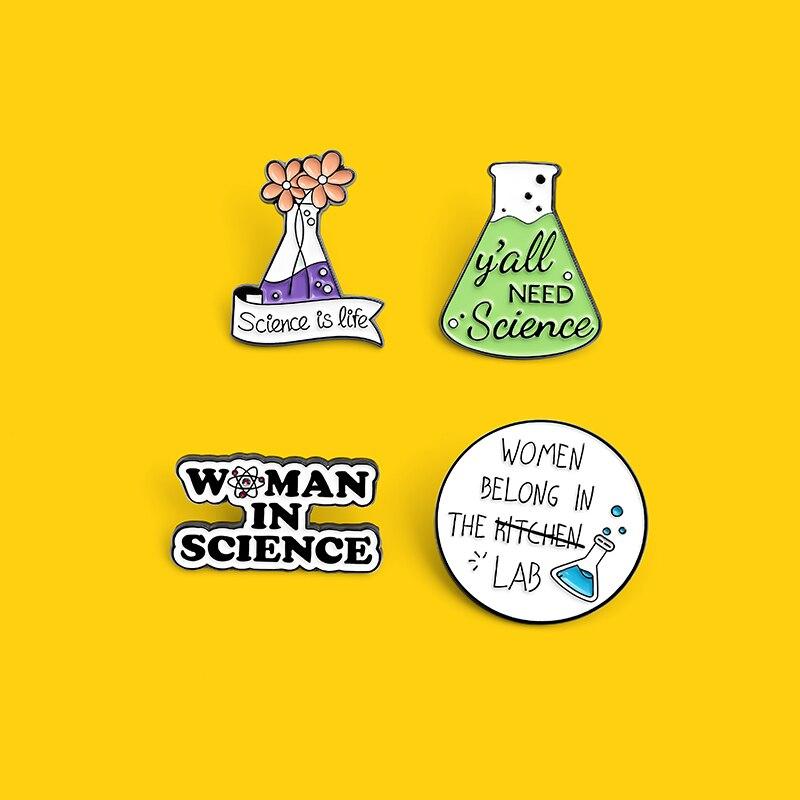 Науки и химии эмали штырь математические инженерно-стакан мешочек для брошек штырь отворотом врачей значок ювелирные подарки для студенто...