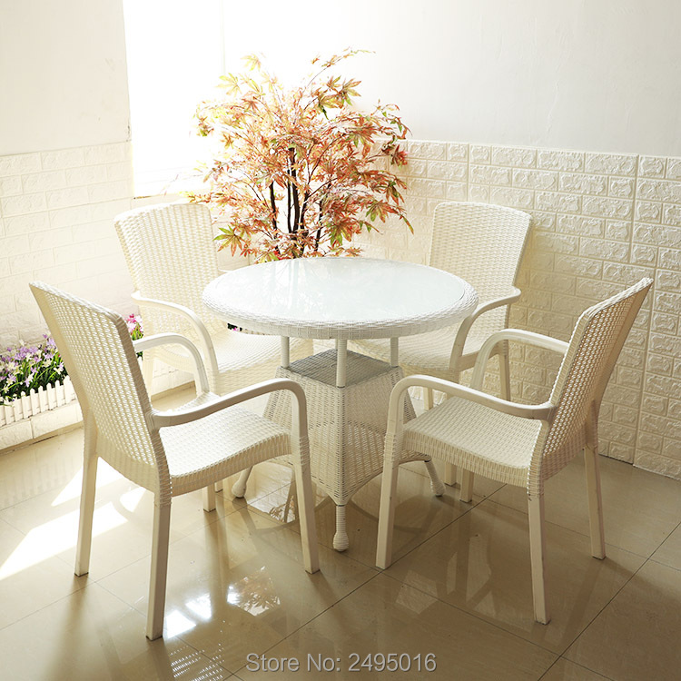 5-piece Wholesale-Outdoor-Garden-Chairs-Dining-Room-Chairs-rust-proof And UV-proof Good For Indoor And Outdoor Use Easy To Move