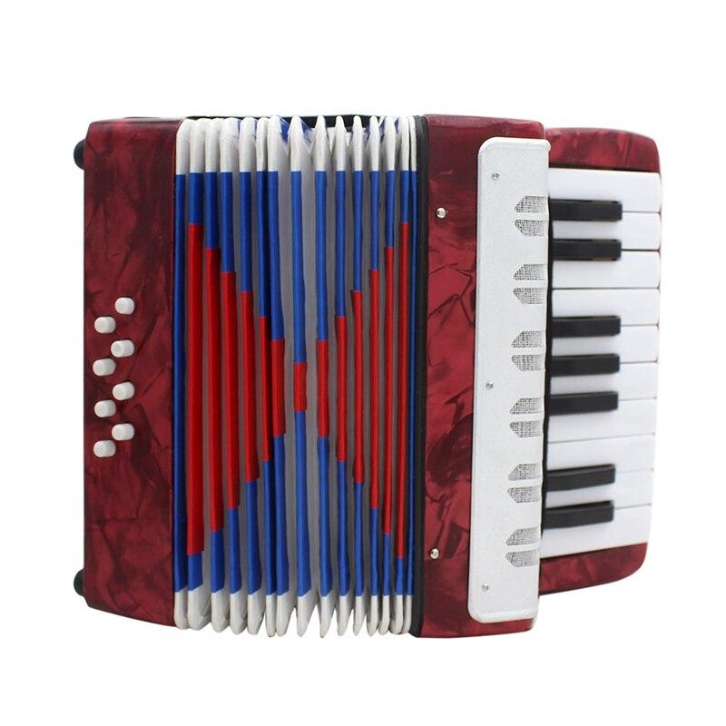 17 ключ профессиональный мини-аккордеон Образовательный музыкальный инструмент для детей и взрослых красный