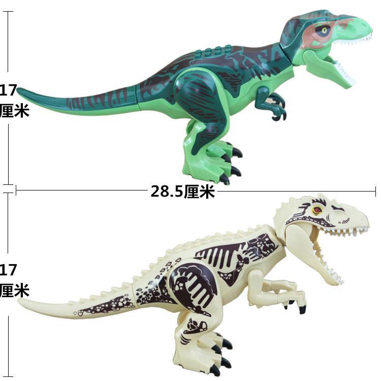 Jurassic World Dinosaurs Figures Bricks Tyrannosaurus Indominus Rex I-Rex Assemble Building Blocks Kid Toy Dinosuar