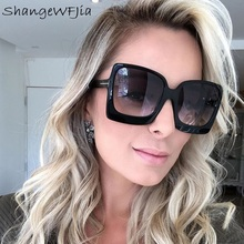 Fashion Oversized Women Sunglasses 2020 Brand Designer Femal