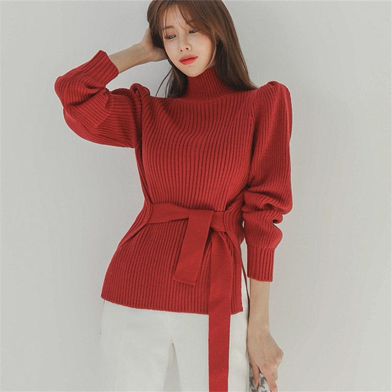 2020 Autumn Winter Women Pullovers And Sweaters Knitted Elasticity Casual Jumper Fashion Turtleneck Warm Female Sweater