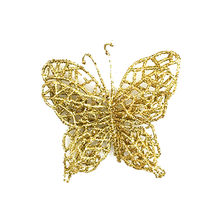 6Pcs Christmas Tree Ornaments Hanging Garland Christmas Simulation Butterfly Xmas Ornament PVC about 7×7cm Party Home Decor #W(China)