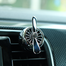 Automobile decoration air vents fan fragrance vehicle perfume force two