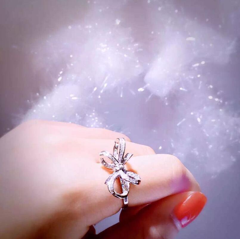 Sterling Silver Three dimensional Butterfly S925 Ring Fashion Lady Engagement Jewelry (MA) - 2