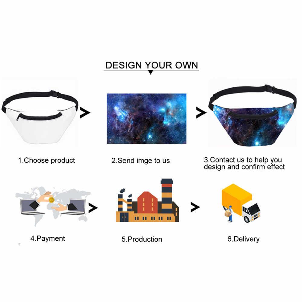 Aangepaste Persoonlijkheid Fanny Pack Ontwerp Uw Eigen 3D Printing Running Telefoon Taille Tas Voor Vrouwen En Mannen Crossboday Zak 2020