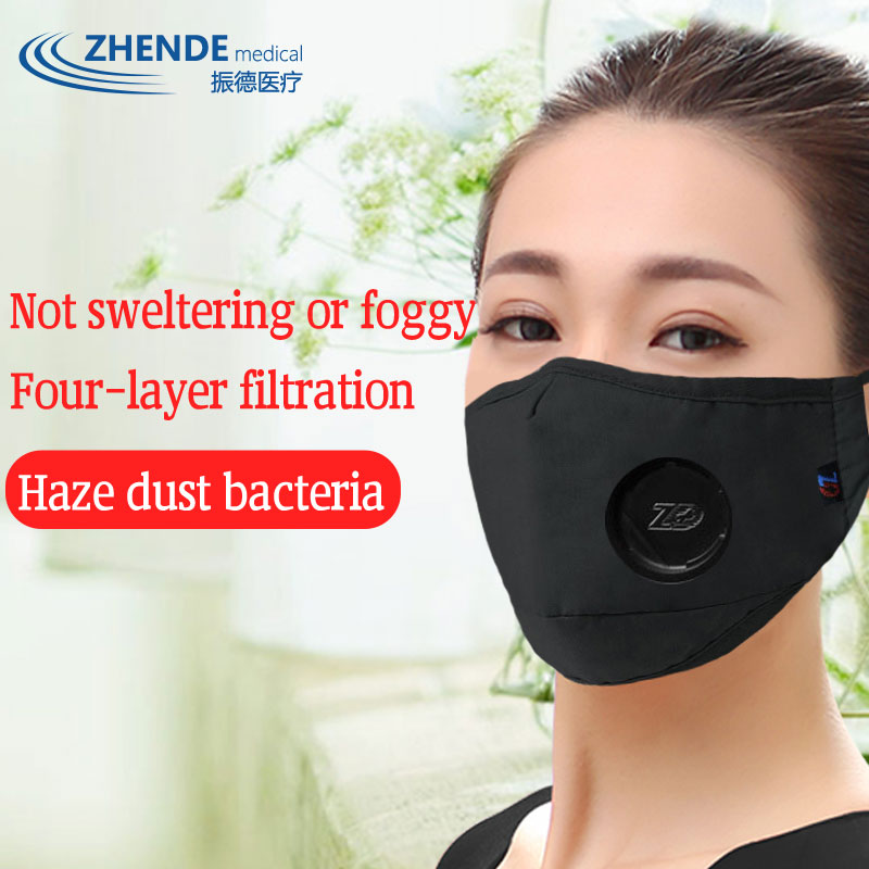 2 BAGS Respirator Mask Folding Filter Breath Medical Thickening Warm Flu Bacteria Rhinitis Anti-particles Breathable Riding