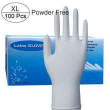 100 шт латексные резиновые перчатки без порошка одноразовые