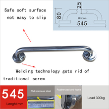 XIYANGZHUSHOU New Bathroom Handrail Straight Grab Bar 35/45/55/65/75/85CM Safety Quality Towel Rack Slip-Resistant Thickening