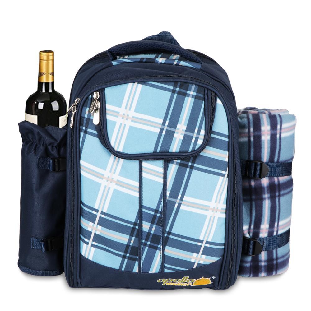 Sacchetto di Picnic di campeggio Portatile zaino con posate borsa frigo cubiertos set da picnic per 4 di Campeggio sacchetti più freddi con spedizioni gratuite in coperta - 5