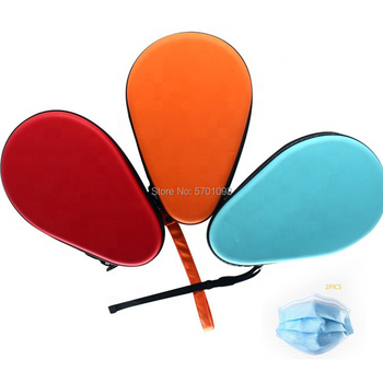 table tennis pingpong Custom Waterproof Table Tennis Hard Shell Rectangle EVA Table Tennis Racket Cover Bag for 2 PCS R image