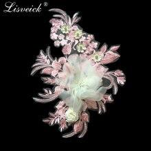 1 шт модная 3d кружевная ткань с цветочной вышивкой кружевной