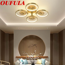 цена на OUFULA Couple Fish Copper Ceiling Light Contemporary Home Suitable For Living Room Dining Room Bedroom