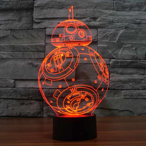 BB8 Licht für Krieg der Sterne LED Figur Yoda Darth Modell Spielzeug Vader Licht Abstrakte Saber Puppe Action Fgure Spielzeug für kinder