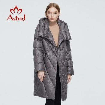 Astrid 2020 delle Nuove donne di Inverno cappotto lungo delle donne parka caldo di modo del Rivestimento di spessore cappuccio Bio-Imbottiture di Qualità di Hight abbigliamento femminile 6580 1