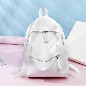 Image 3 - Toposhine 여성용 대용량 배낭 빈티지 소녀 학교 가방 숙녀 여행 화이트 핑크 어깨 가방 여성 배낭