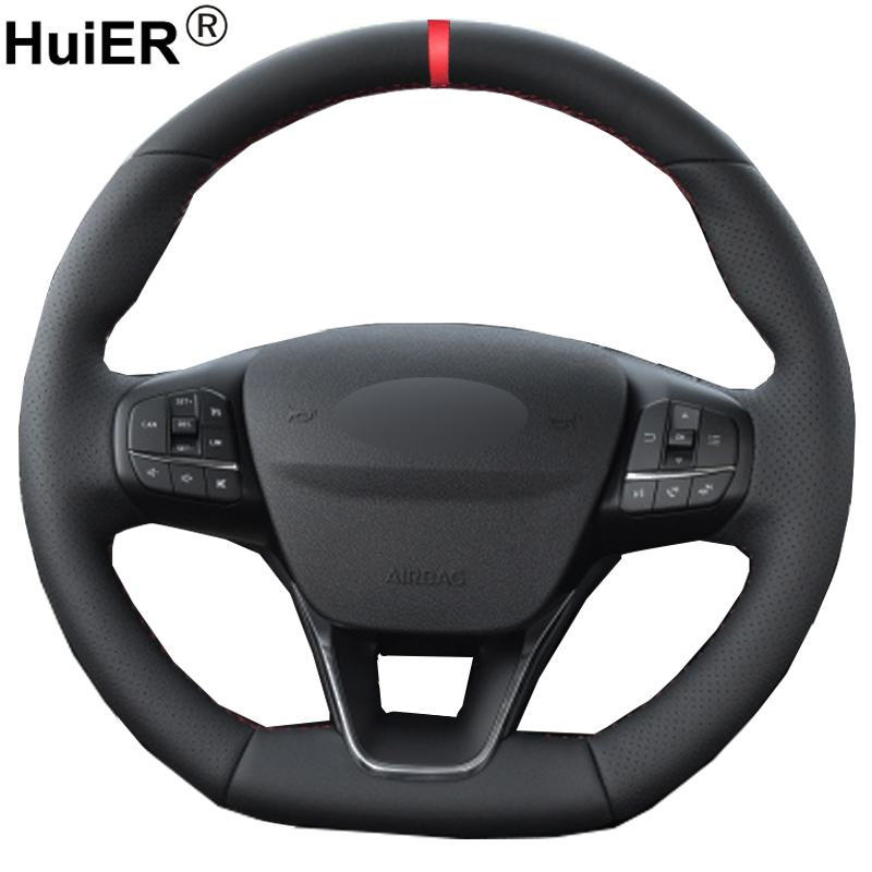 Hand Sewing Car Steering Wheel Cover For Ford Focus ST Line 2018 2019 2020 Focus ST 2019 2020 Braid on the Steering wheel Volant|Steering Covers| |  - title=