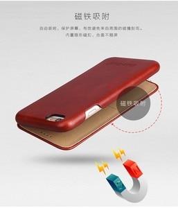 Image 4 - 100% אמיתי עור Flip כיסוי Case עבור Apple iPhone 6 6S 7 8 בתוספת SE 2020 יוקרה Fundas עם מתנה חינם מסך מגן