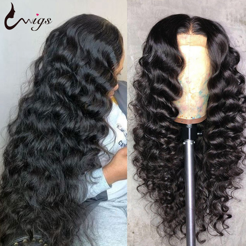 28 30 Inch Loose Deep Wave Wig 250 Density Lace Wig Deep Wave Frontal Wig Lace Front Human Hair Wigs For Women Closure Wig Remy