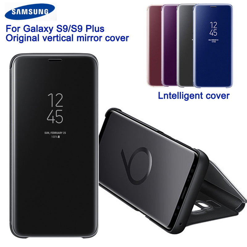 New For Samsung GALAXY <font><b>S9</b></font> <font><b>G9600</b></font> <font><b>S9</b></font>+ Plus G9650 Slim Flip Case Original Samsung Mirror Protection Shell Phone Cover Case image