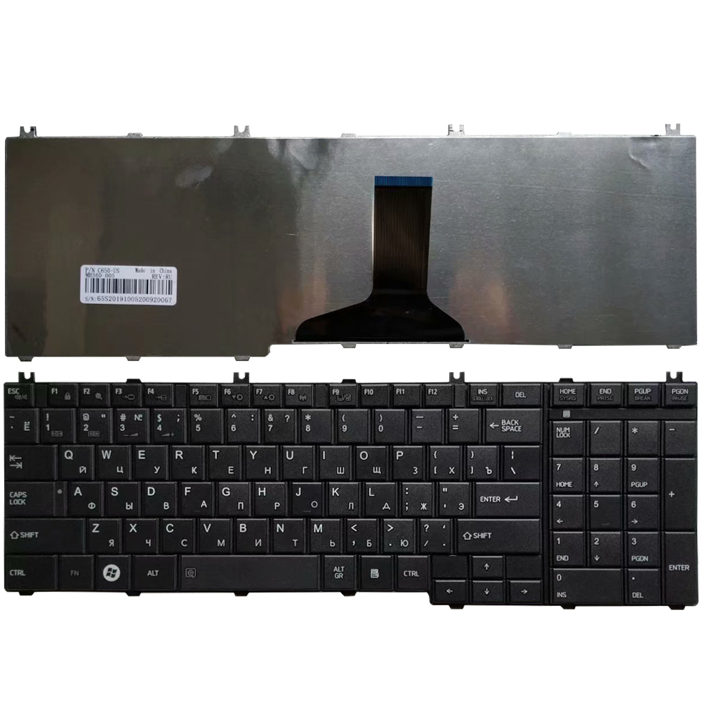 Russian Keyboard For Toshiba Satellite C650 C655 C655D C660 C670 L675 L750 L755 L670 L650 L655 L670 L770 L775 L775D RU Keyboard