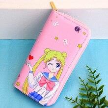Wallet Wrist-Strap Long-Clutch Sailor Moon Ladies Coin Purse Mobile-Phone Zipper Women's