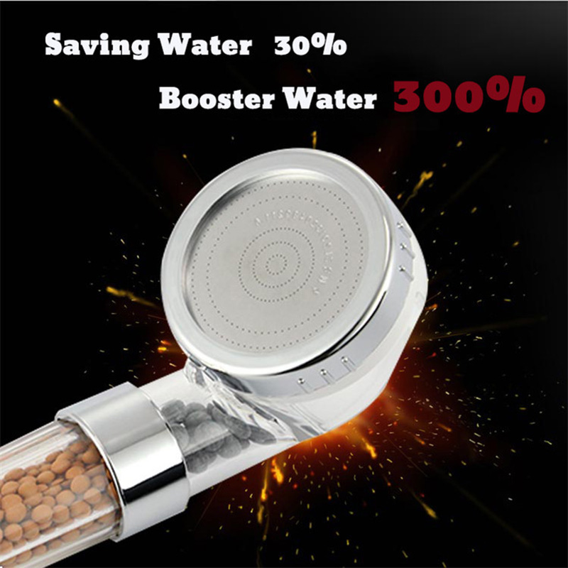 EHEH Healthy SPA Shower Head Set High Pressure Water Saving Detachable Anion Filter Water Softener Showerhead