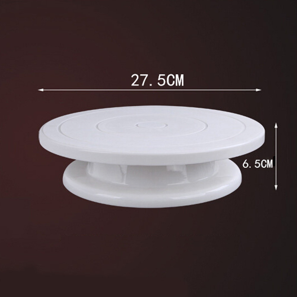 Baking Tool DIY Cake Turntable Plastic Cake Plate Rotating Table Stand Base Turn Around Cake Decorating Kitchen Tools in Turntables from Home Garden