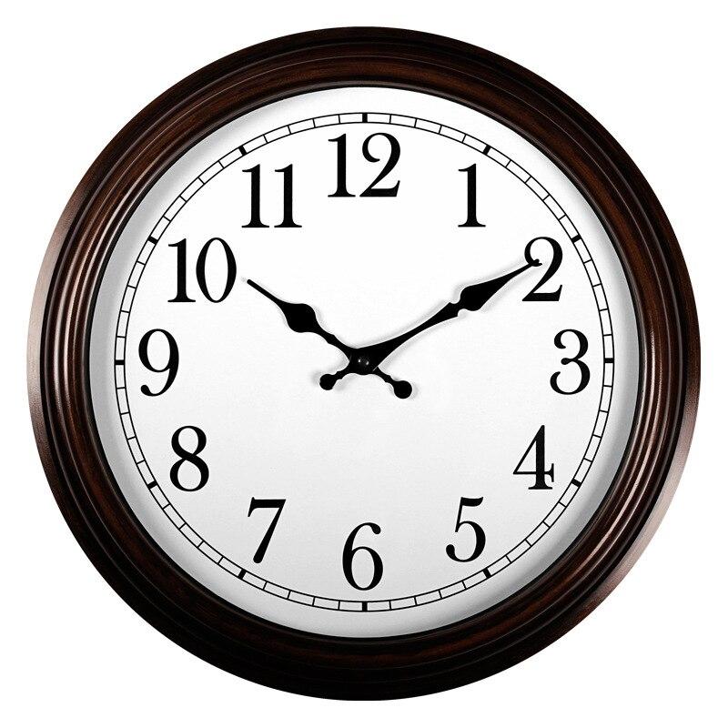 16 pouces Style Simple horloge chambre bureau muet salon horloge murale créative pendaison mode horloge à Quartz horloge murale