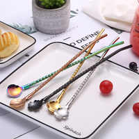 304 Stainless Steel Straw Titanium Stainless Steel Color xi guan shao Creative Milk Tea Drink Straw