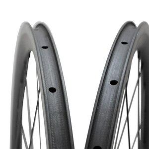 Image 4 - Carbon Road Bikeล้อโปรไฟล์ 35/38/45/50/55/75 มม.ภายในสำหรับtubeless 700Cจักรยานล้อดึงตรงR36 Hub
