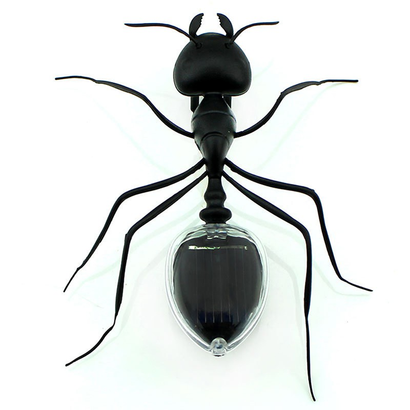 1PC Ant Cockroach Power Robot Toy Bug Solar Energy Powered Toy Mini Kit Novelty Kid Gadget Toy For Children Toys Drop