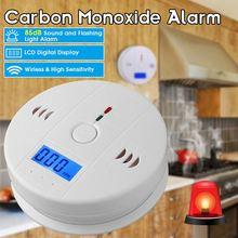 Wyświetlacz LCD wykrywacz tlenku węgla CO Tester węgla czujnik wycieku gazu czujnik dymu System detektor dymu czujnik czadu węgla tanie tanio Smoke Detector