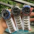 De luxo Da Marca New Men Relógio Mecânico Automático Preto Vermelho Azul Safira Aço Inoxidável GMT II Cerâmica Pepsi Batman Luminosa