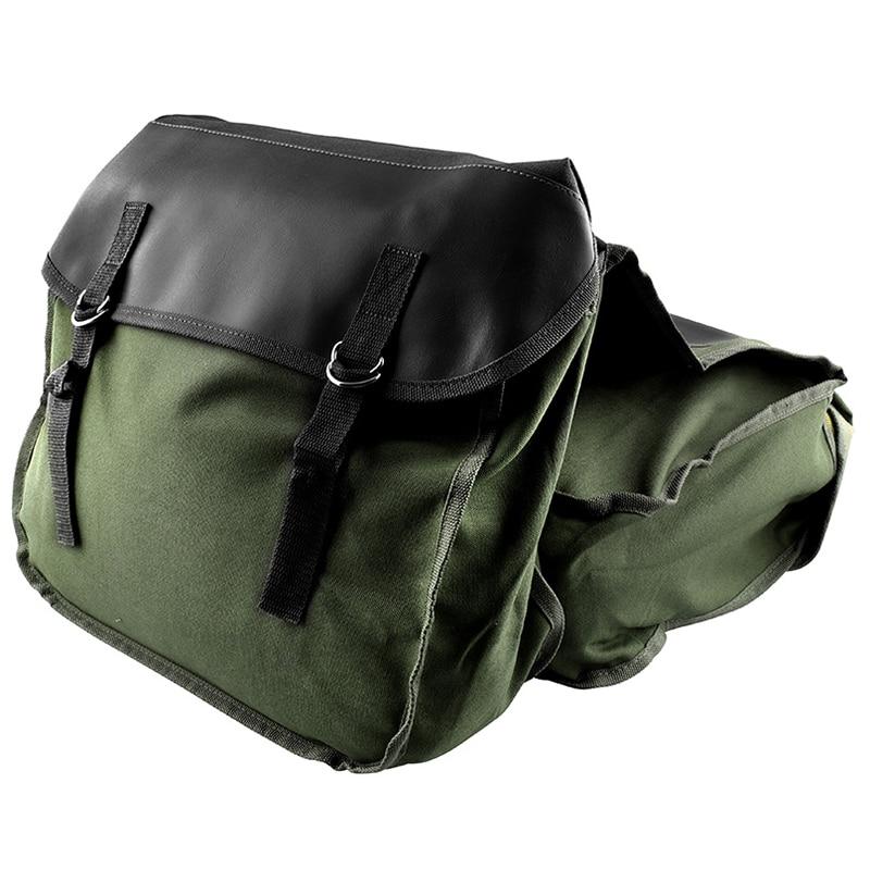 Hot AD-Motorcycle Saddle Bags Panniers for Honda Yamaha Suzuki Sportster Kawaski Motorcycle Scooter Saddle Bag,Green