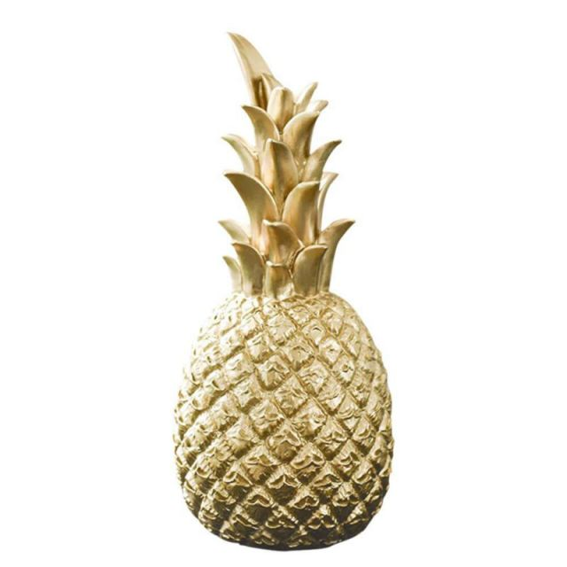 Pineapple Shaped Figurine Gold Black Pineapple Crafts Miniatures Gift For Office Home Decoration Pineapple 3