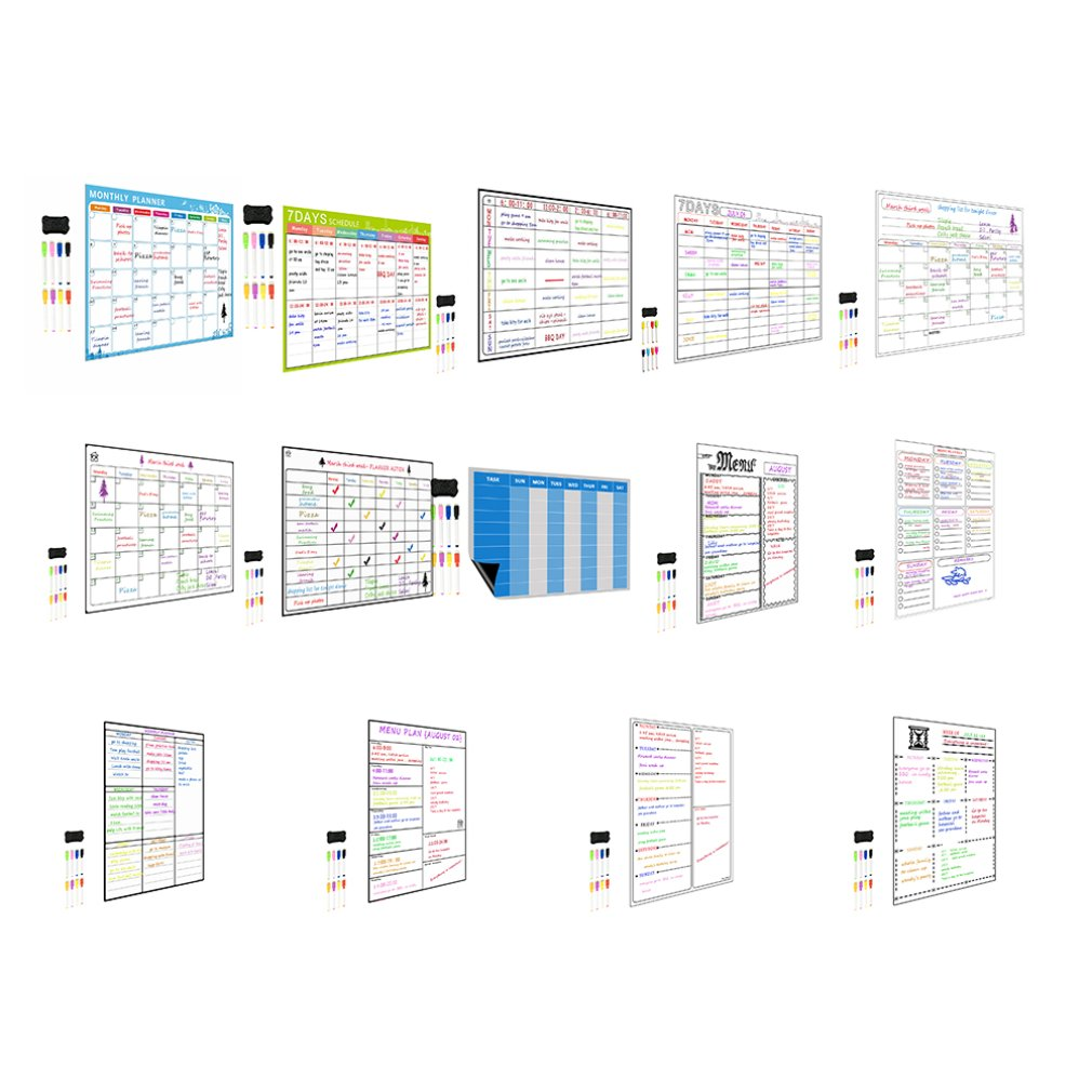 Magnetic A3 Planner Board Kitchen Fridge Large Dry Erase Calendar Organizer Notepad Your Whiteboard Planner As A Meal Planner